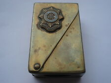 SCARCE WW1 IRISH GUARD DUNHILL DESIGN BRYANT&MAYS SERVICE MATCH BOX COVER