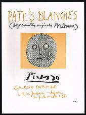 1960's Vintage Pablo Picasso Pates Blanches Galerie Folklore Poster Art Print