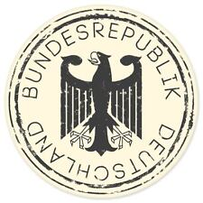 "Bundesrepublik Germany travel car bumper window suitcase sticker 4"" x 4"""