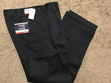 NWT IZOD American Chino Classic-Fit Khaki Double Pleat Pant Navy 34X34 MSRP$50