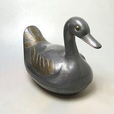 Lebensgroße Ente Zinn  Etain  Pewter ca. 30 x 24 x 17 cm 3 Kg Gebrauchsspuren