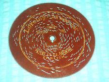 """Rar Loreley Blechplatte 14,5cm Symphonium Spieluhr 5 3/4"""" disc antique music box"""