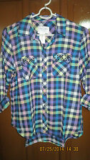 AEROPOSTALE long sleeve check woven shirt - XL