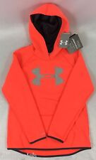 Under Armour GIRL'S Sweater Hoodie Storm Cold Gear Pink Gray Logo Size YOUTH S
