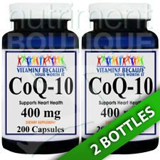 Coenzyme Q-10 400 mg CoQ10 CO Q-10, CoQ-10 2X200 Caps by Vitamins Because