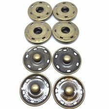 4x25mm Metal Snap Fasteners - Poppers - Press Studs. Black, Silver, Antique Gold