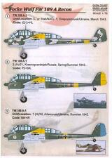 Print Scale Decals 1/72 FOCKE WULF Fw-189A Reconnaissance Versions