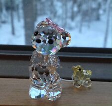 "Swarovski Crystal Figurine 2008 KRIS BEAR, ""It's A Girl"""
