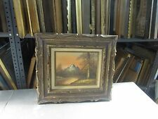 """Vintage Oil on Board Painting Framed Signed 8"""" x 10"""" - 16"""" x 18"""""""
