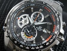 CASIO EDIFICE Chronograph 100M EF543D-1A EF-543D-1A Free Ship!