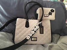 """NWT This Springs Authentic Guess """"Flowering"""" Collection Blk/Wt FREE cosmetic Bag"""