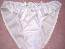 WHITE SATIN SISSY PANTY  XL SIZE