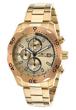 Invicta Men's Specialty Chronograph 18k Gold Plated Steel Rose-Tone Bezel