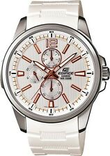 Casio Edifice EF343-7A Men's Active Racing Multifunction White Resin Band Watch