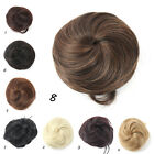 Cute Girl Lady Hair Extension Pony Tail Clip in/on Hair Bun Hairpiece Scrunchie