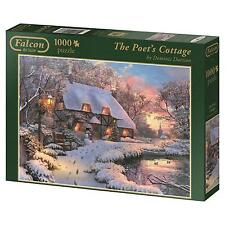 NEW! Falcon de luxe The Poet's Cottage 1000 piece christmas jigsaw puzzle