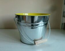 Large Beer Bucket Ice Bucket Box Cooler Party Decor w Yellow Interior & Handle