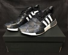 New adidas x BAPE NMD R1 Black Army Camo US7.5 Bathing Ape Shoes Free Shipping