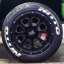 "Permanent Nitto Tire Lettering Kit - 1.25"" For 17"" and 18"" Wheels (4 decals)"