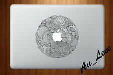 Macbook Air Pro Skin Sticker Decal - Abstract Circular Pattern BW05 #CMAC073
