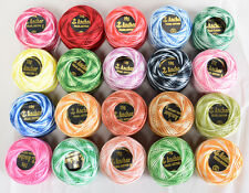 20 Variegated Anchor Balls  ( Anchor Crochet Cotton Thread Balls )