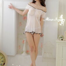 NEW Sexy Women Ladies Lingerie Night Sleepwear Dress G-string Asian S - M