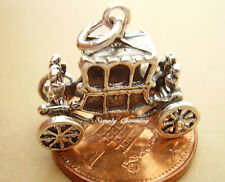 BEAUTIFUL ' QUEEN STATE COACH ' MOVING SILVER CHARM
