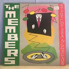 THE MEMBERS At The Chelsea Nightclub 1979 vinyl LP Excellent Condition original
