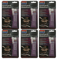 6 x Granville CLEAR INSTANT GASKET & Sealant Quality RTV Silicone Flexible 40g