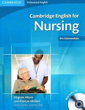 Cambridge Professional ENGLISH FOR NURSING Pre-Intermediate w Audio CDs @NEW@