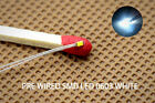 T0603W 20pcs Pre-soldered micro litz wired leads Bright White SMD Led 0603 NEW