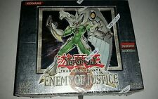 YUGIOH ENEMY OF JUSTICE 24 PACK BOOSTER BOX 1ST EDITION FIRST FACTORY SEALED NEW