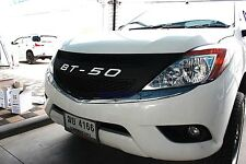 FRONT GRILL COVER TRIM WHITE LOGO FOR MAZDA BT50,BT-50,BT 50 PICKUP 2012 2013+
