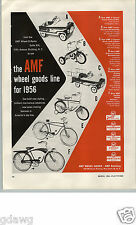 1956 PAPER AD AMF Toy Pedal Car Capri Convertible Shelby Airflow Deluxe Bicycle