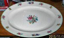 Ostrow China Princess Anne Golden Dusk 431 White with Floral Platter 15 x 11