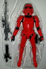 "Star Wars CRIMSON STORMTROOPER 6"" Figure Red The Black Series EE Exclusive"