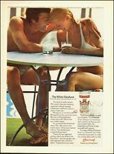 1975 Vintage ad for Smirnoff Vodka`Couple-Bathing Suits (051414)