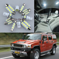 NEWEST Premium White Light Interior LED Package 11x for Hummer H2 2002-2009 L7