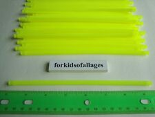 "KNEX BUILDING TOY LOT: 50 Neon Yellow 7 1/2"" Flexi Rods Flexible 7.5""Fluorescent"