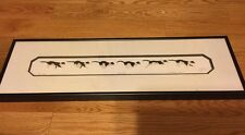 Signed Running Cat Chasing Rat Etching Numbered  (Framed) Black & White