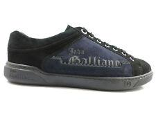 Herren schuhe JOHN GALLIANO 41 blau schwarz wildleder sneaker WH19