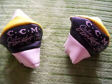 VINTAGE CCM PRO OK'D JOHN McKENZIE ELBOW PADS REALLY NICE BOSTON BRUINS COLORS