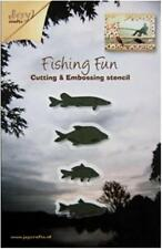 JOY CRAFTS DIE CUTTING CRAFT STENCIL STANDING FISHING FISH SET OF FOUR 6002/0154