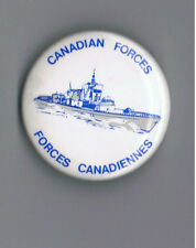 "Canadian Forces 1.75"" Pinback Button HMCS Halifax Frigate Navy Military Gun Ship"