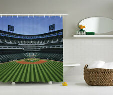 Baseball Stadium Sports Sport Them Kids Boys Fabric Shower Curtain