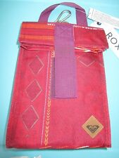 NEW ROXY SCHOOL STUDENT BAG LUNCH BELL COOLER Insulated Box Red Purple