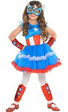 Captain America Dream Girl Classic Tutu Costume SIZE Small 4-6 Marvel Comics NEW