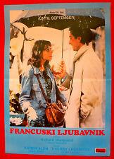 UNTIL SEPTEMBER 1984 KAREN ALLEN  THIERRY LHERMITTE MARQUAND EXYU MOVIE POSTER