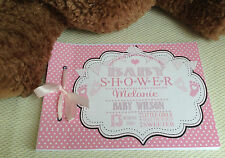 PERSONALISED GUEST BOOK, MEMORY ALBUM BABY SHOWER - AVAILABLE IN ANY COLOUR