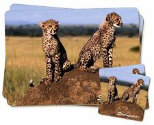Two Cheetahs 'Soulmates' Twin 2x Placemats+2x Coasters Set in Gift Bo, SOUL-80PC